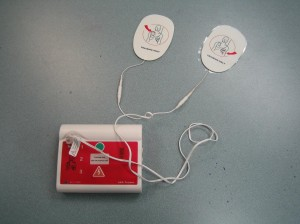 AED trainer with pads for adults